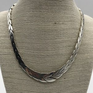Statement Necklace Hand Wrought Sterling